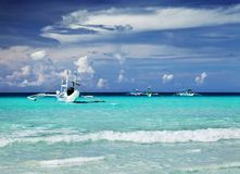 Tropisk strand, Filippinerna Arkivfoto