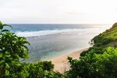 Tropisk strand i Bali Royaltyfri Foto