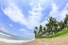 tropisk strand Indiskt hav Arkivfoto