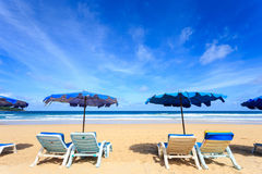 Tropisk strand, Kata Noi i den phuket ön, Andaman hav, Thailand royaltyfri foto