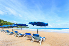 Tropisk strand, Kata Noi i den phuket ön, Andaman hav, Thailand royaltyfri bild