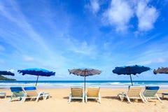 Tropisk strand, Kata Noi i den phuket ön, Andaman hav, Thailand arkivfoto