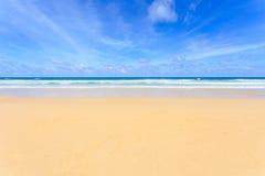 Tropisk strand, Kata Noi i den phuket ön, Andaman hav, Thailand arkivfoton