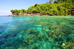 Tropisk strand, koh Rok för Andaman hav Royaltyfri Foto