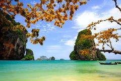 Tropisk strand Krabi, Thailand arkivbilder
