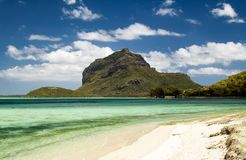 Tropisk strand, Mauritius Royaltyfria Foton