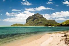 Tropisk strand, Mauritius Royaltyfria Bilder