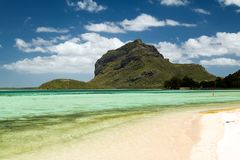 Tropisk strand, Mauritius Arkivfoton