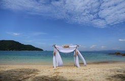Tropisk strand på Gem Island royaltyfria bilder
