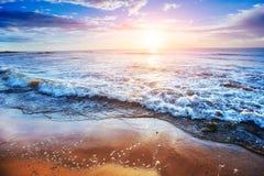 Tropisk strand på sandiga Sicilien Italien Europa Royaltyfria Foton