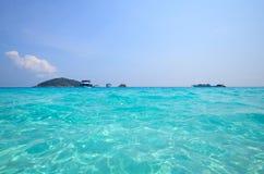 Tropisk strand, Similan ö Thailand Fotografering för Bildbyråer