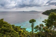 Tropisk strand, Similan öar, Andaman hav, Thailand Arkivfoto