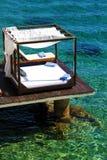 tropisk strandcabanalyx Arkivbild