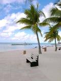 Tropisk strandhimmel och hav Arkivfoto