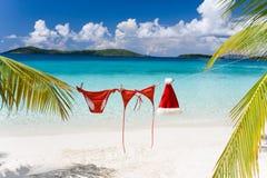 tropisk strandjul arkivbild