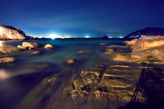 tropisk strandnatt Arkivbilder