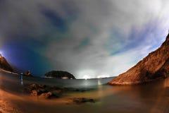 tropisk strandnatt Royaltyfria Foton