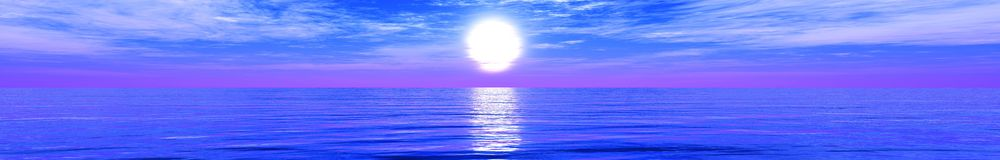 tropisk strandpanorama Solnedgång på havet Royaltyfri Foto