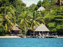 tropisk strandsemesterort Royaltyfri Bild