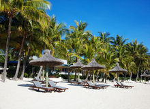 Tropisk strandsemesterort Arkivfoto