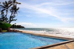 tropisk strandsemesterort Arkivbild