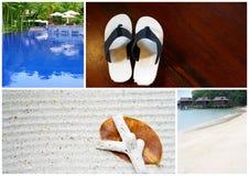 tropisk strandsemesterortserie Arkivfoton