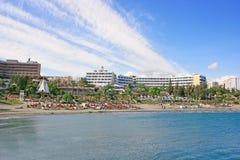 tropisk strandstad royaltyfri fotografi