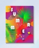 Tropisk tapet för parti för sommarungeläger Royaltyfri Fotografi
