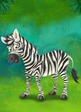 Tropisk tecknad film eller safari - illustration för barnen Royaltyfri Fotografi