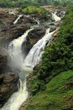 tropisk vattenfall för molnig skog fotografering för bildbyråer