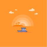 Tropisk vektor för havslandskapöversikt Royaltyfri Foto
