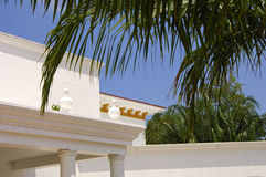 tropisk villa Arkivbild