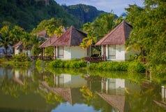 Tropisk villa Arkivfoton