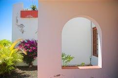 tropisk villa Arkivfoto