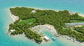tropiska öar Arkivbild