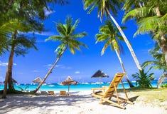 Tropiska ferier i paradisön Arkivfoton