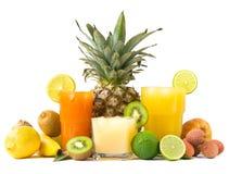 tropiska fruktsaftar Royaltyfri Fotografi
