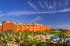 Tropiska hörn Sunny Beach för semesterort tre i Hurghada Arkivfoton