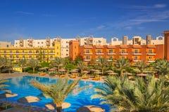 Tropiska hörn Sunny Beach för semesterort tre i Hurghada Royaltyfria Bilder