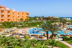 Tropiska hörn Sunny Beach för semesterort tre i Hurghada Fotografering för Bildbyråer