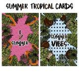 Tropiska kort för sommar Arkivfoton