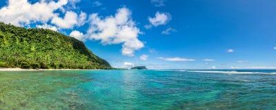 Tropiska Lalomanu i Samoa Arkivfoto