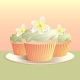 tropiska muffiner royaltyfri illustrationer