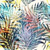Tropiska palmblad för färgrik vektor, semesterstil Ideal för royaltyfri illustrationer