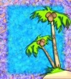 tropiska palmträd stock illustrationer