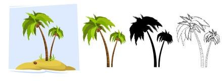 tropiska palmträd vektor Fotografering för Bildbyråer
