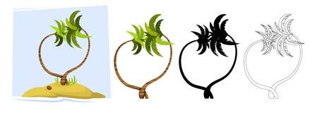 tropiska palmträd vektor Arkivbild