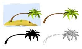tropiska palmträd vektor Royaltyfri Foto