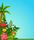 tropiska papegojaväxter Royaltyfria Foton
