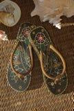 tropiska sandals royaltyfri fotografi